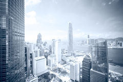 Skyline business district. Clear view at skyline, business district of HongKong Royalty Free Stock Photography
