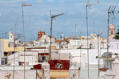 Skyline of Cadiz, Spain Royalty Free Stock Photography