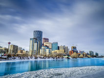 Skyline of Calgary Stock Photography
