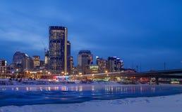 Skyline of Calgary Royalty Free Stock Images