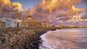 Skyline from Campo del Sur Cadiz Spain Stock Photos