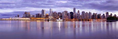 Skyline Canadá de Vancôver Fotografia de Stock Royalty Free