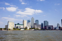 Skyline of Canary Wharf  Stock Images