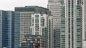 Skyline in Canary Wharf, London royalty free stock photos