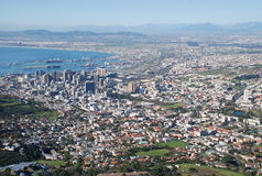 Skyline of Cape Town stock photos