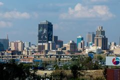 Skyline of Capetown. Capetown`s Skyline During a Cloudy Day stock photo