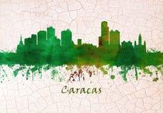 Caracas Venezuela skyline. Skyline of Caracas, Venezuela`s capital, a commercial and cultural center located in a northern mountain valley vector illustration