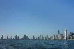 Skyline of Cartagena from Caribbean Sea Stock Images