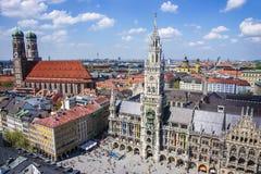 Skyline center cuty de Munich Imagem de Stock Royalty Free