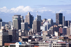 Skyline of Central Business District in Durban, South Africa Royalty Free Stock Photography