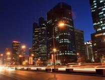Skyline central do distrito financeiro de Beijing fotos de stock royalty free