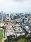 Skyline central do distrito financeiro de Singapore Foto de Stock