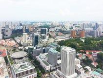 Skyline central do distrito financeiro de Singapore Fotos de Stock