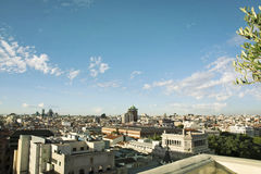 Skyline, central Madrid district Royalty Free Stock Image