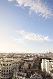 Skyline, central Madrid district. The skyline of Madrid (Spain) from de CBA (Circulo de Bellas Artes) during the sunset Stock Photo
