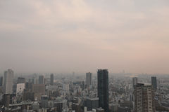 Skyline of central Osaka. Osaka is Japan's third largest city and an important economic center Stock Photo