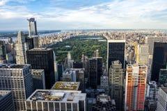 Skyline on Central Park Royalty Free Stock Photography