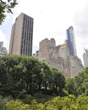 Skyline from Central Park in Midtown Manhattan from New York City in United States Stock Images