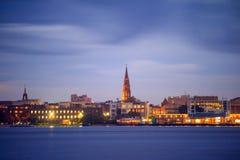 Skyline of Charleston, South Carolina, USA. At twilight Royalty Free Stock Image