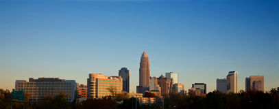 Skyline of Charlotte North Carolina Stock Photo