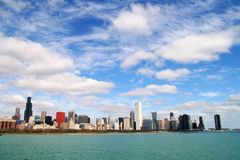Skyline of Chicago. Skyline of downtown Chicago, USA Stock Photos