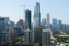 Skyline  chicago. Summer skyline in chicago southside Stock Photo