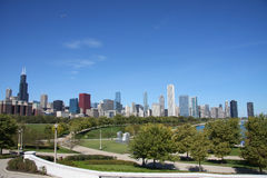 Skyline of modern city Chicago Stock Photo
