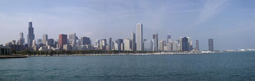 Skyline of Chicago - Panorama SoC01 Royalty Free Stock Photography
