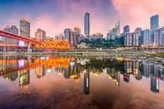Skyline Chongqings, China lizenzfreie stockfotografie