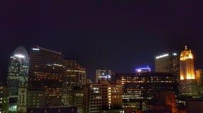 Skyline. Cincinnati skyline at night Stock Photography