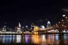 Skyline of Cincinnati Ohio stock images