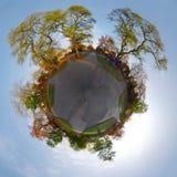 Skyline circular da cidade Foto de Stock Royalty Free