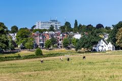 Skyline city Arnhem in the Netherlands Royalty Free Stock Photo