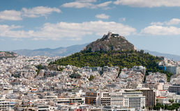 Skyline of the city of Athens in Greece Stock Photos