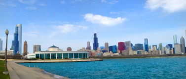 Skyline of the City of Chicago Stock Photos