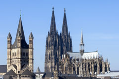 Free Skyline City Cologne With Historic Churches Royalty Free Stock Photography - 39446637