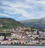 Skyline of the City of Horta in the Portuguese, Azores Stock Photos