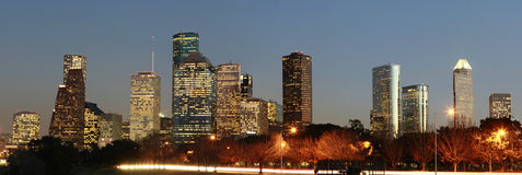 Skyline of the City of Houston, Texas Royalty Free Stock Photos