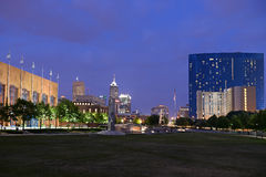 Skyline of City of Indianapolis Royalty Free Stock Photo