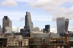 Skyline City of London Stock Photo