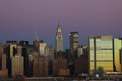 Skyline, City, Manhattan, New, York Royalty Free Stock Photos