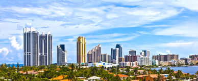 Skyline of the city of Miami, Florida Stock Image