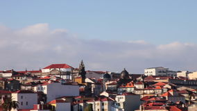 Skyline of the city of Porto with Clerigos Tower in Portugal stock video footage