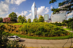 Skyline and city streets of charlotte Stock Photo