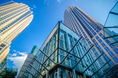 Skyline and city streets of charlotte Stock Images