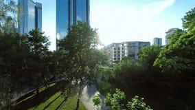 Skyline cityscape background stock footage