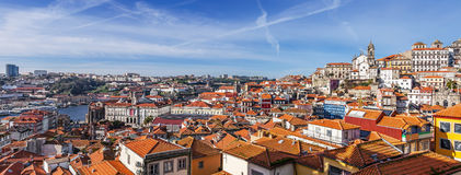 Skyline and cityscape of the city of Porto in Portugal Stock Photo
