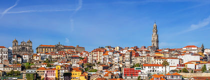 Skyline and cityscape of the city of Porto in Portugal Royalty Free Stock Photos