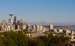 Skyline clássica de Seattle Foto de Stock Royalty Free