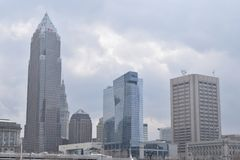 Skyline in Cleveland, Ohio, USA royalty free stock images